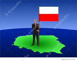 Poland Map Flag Man With Polish Flag Stock Illustration I1621332 At Featurepics
