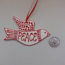 peace ornament ceramic peace dove ornament peace dove ornament