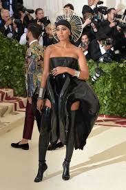 solange stuns at the 2018 met gala with a du rag and a blonde
