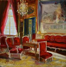 red room art print of original oil painting by cecilia