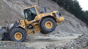 volvo l110f with the in the air youtube