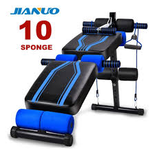 jianuo 10 sponge luxury fitness gym sit up bench six pack abs