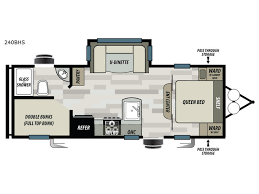 triple bunk travel trailer floor plans sonoma 240bhs travel trailer