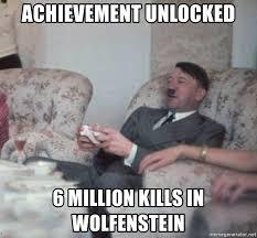 achievement unlocked 6 million kills in wolfenstein hitler xbox