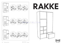 assembly instruction for storage furniture ikea rakke wardrobe