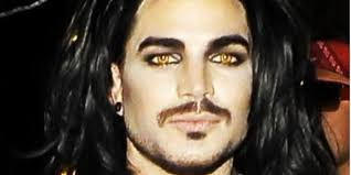 yellow contact lenses halloween adam lambert u0027s halloween costume isn u0027t that shocking huffpost