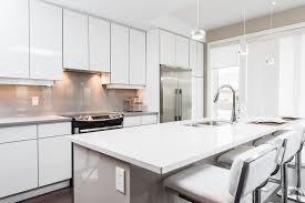 toronto white lacquer credenza kitchen modern with colored glass