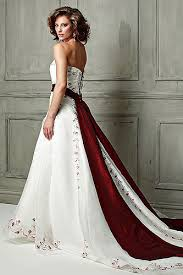 wedding dress maroon wedding dress with color wedding corners