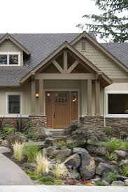craftman house earthy colors and materials bring bungalow style home with