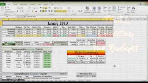 Excel Spreadsheet Household Budget by How To Make A Budget In Excel Part 1 Youtube