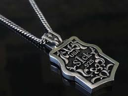 sterling silver tag necklace images Alpha dog tag pendant for men 925 sterling silver handmade usa jpg