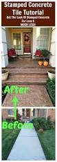 Patio Paint Concrete by Diy Stamped Concrete Tile Tutorial Concrete Tiles Stamped