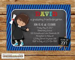 preschool graduation invitations kindergarten graduation invitation etsy