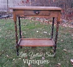 Antique Accent Table Vintage Accent Table For Silent Auction Yellow Shed Vintiques