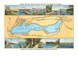 geneva map map of lake geneva wisconsin prints at allposters com