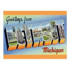 greetings from michigan postcard zazzle