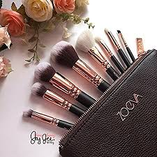 amazon zoeva full set 8 makeup brushes rose golden luxury professional organizer travel real techniques eye bag al instruments