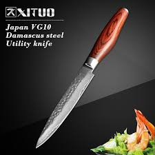 forged japanese kitchen knives xituo 2017 damascus kitchen paring knife 5 inch handmade forged