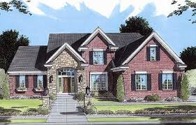 brick homes plans brick and stone two story 3972st architectural designs house