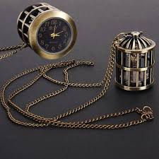 pendant pocket watch necklace images Magic green round pocket watch with powdered gold 10pcs lot 3 5cm jpg