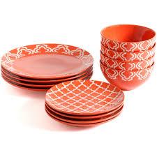 gibson studio aaliyah wax relief 12 dinnerware set
