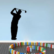 Golf Home Decor Golf Golfer Silhouette Wall Decals Vinyl Stickers Home Decor