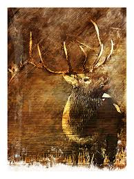 Deer Decor For Home by Fantastic Deer Portray On Wood Panels As Inspiring Wall Living