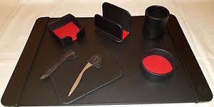 parure bureau sous cuir parure bureau set de bureau ouvre lettre noir 7 ps