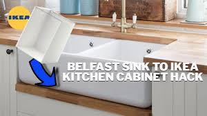 ikea freestanding kitchen sink cabinet how to fit a belfast sink on an ikea kitchen cabinet