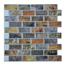 Amazoncom Artd Peel  Stick BathroomKitchen Backsplash Tiles - Peel and stick wall tile backsplash
