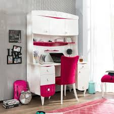 Pink Computer Desk Room White Pink Desk With Hutch For Room