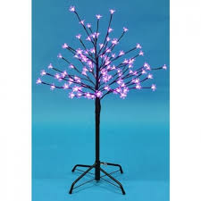 3ft pink led blossom tree