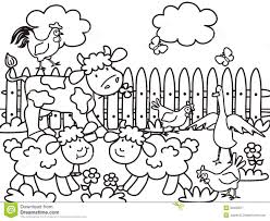 farm coloring stock image image 32039871