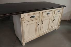 hand crafted white kitchen island from reclaimed barn wood by