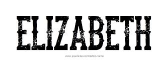 elizabeth name tattoo designs