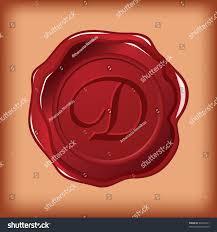 seal wax monogram letter d stock vector 46245211 shutterstock