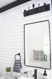 vintage recessed medicine cabinet a modern meets traditional black and white bathroom makeover