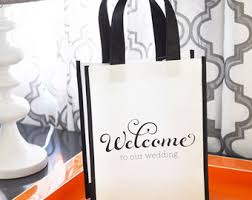 welcome wedding bags wedding welcome bags etsy