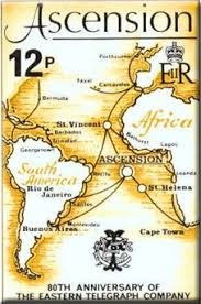 ascension islands map ascension island colony
