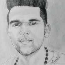 pencil sketch of guru randhawa