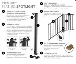 Deck Stair Handrail Height Rdi Excalibur Railing Deck Expressions