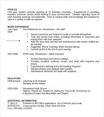 resume writing for high students pdf download sle student cv template 9 download free documents in pdf word
