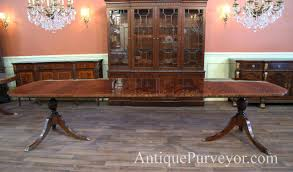 dining table mahogany double pedestal dining table at 90 inches