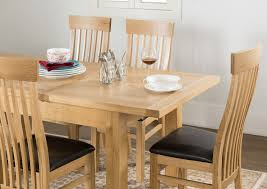 Kitchen Table Close Up Aylesbury Contemporary Light Oak Large Extending Dining Table