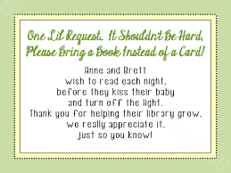 bring a card instead of a book baby shower insert gender