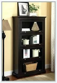 Target Corner Bookcase Bookcase Casual 5 Shelf Leaning Bookcase In Espresso Carson 5