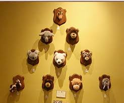 animal busts wall decor