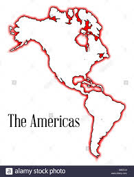 Blank Map Of Canada by Outline Map Of The Americas Both North And South Including Canada