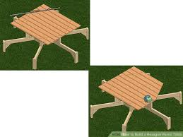 Free Hexagon Picnic Table Designs by How To Build A Hexagon Picnic Table With Pictures Wikihow