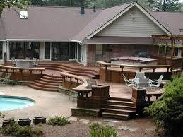 patio deck design small ideas brick also home trends attractive